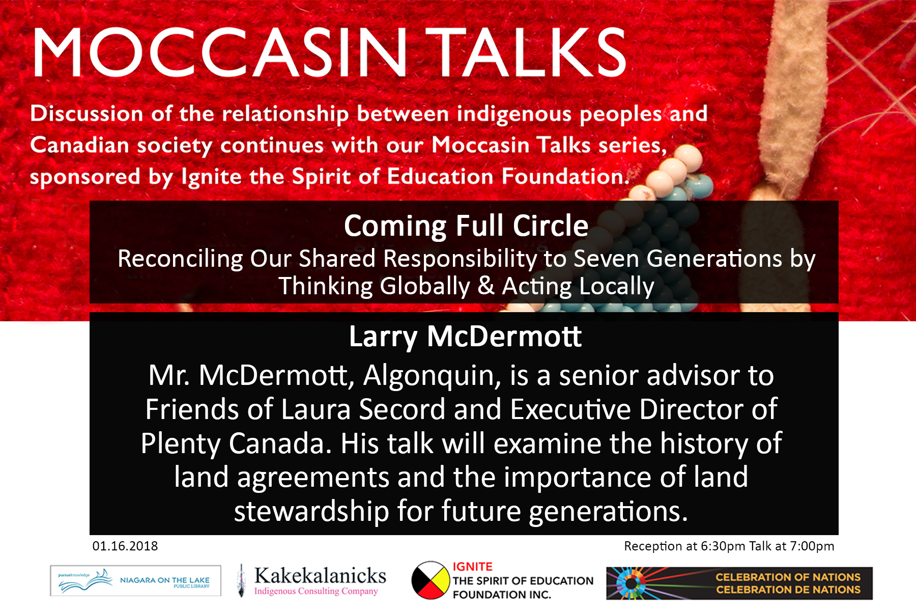 Mocassin Talks - Larry McDermott   Niagara-on-the-Lake