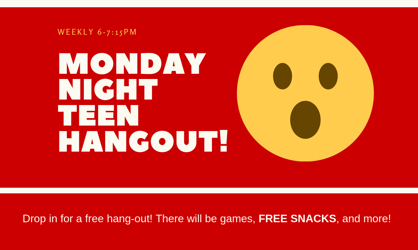 Monday Night Teen Hangout Banner
