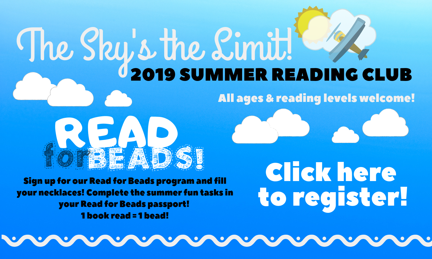 Click here to sign up for kids summer reading club