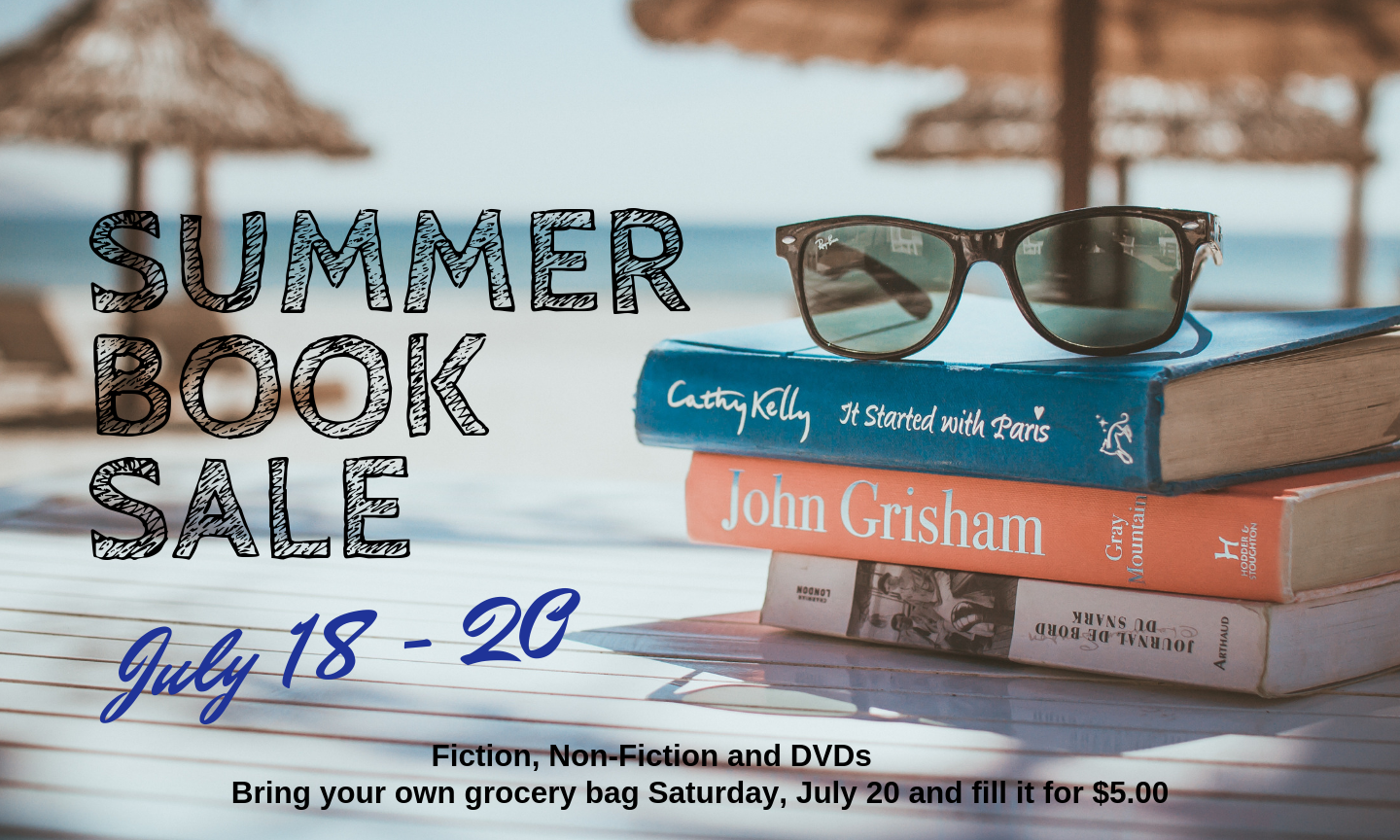 Summer Book Sale July 18 to 20