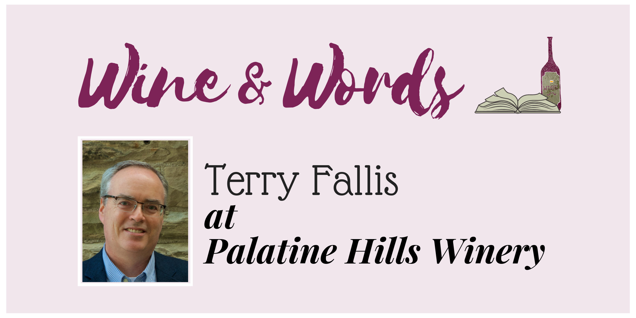 Terry Fallis at Palatine Hills Winery