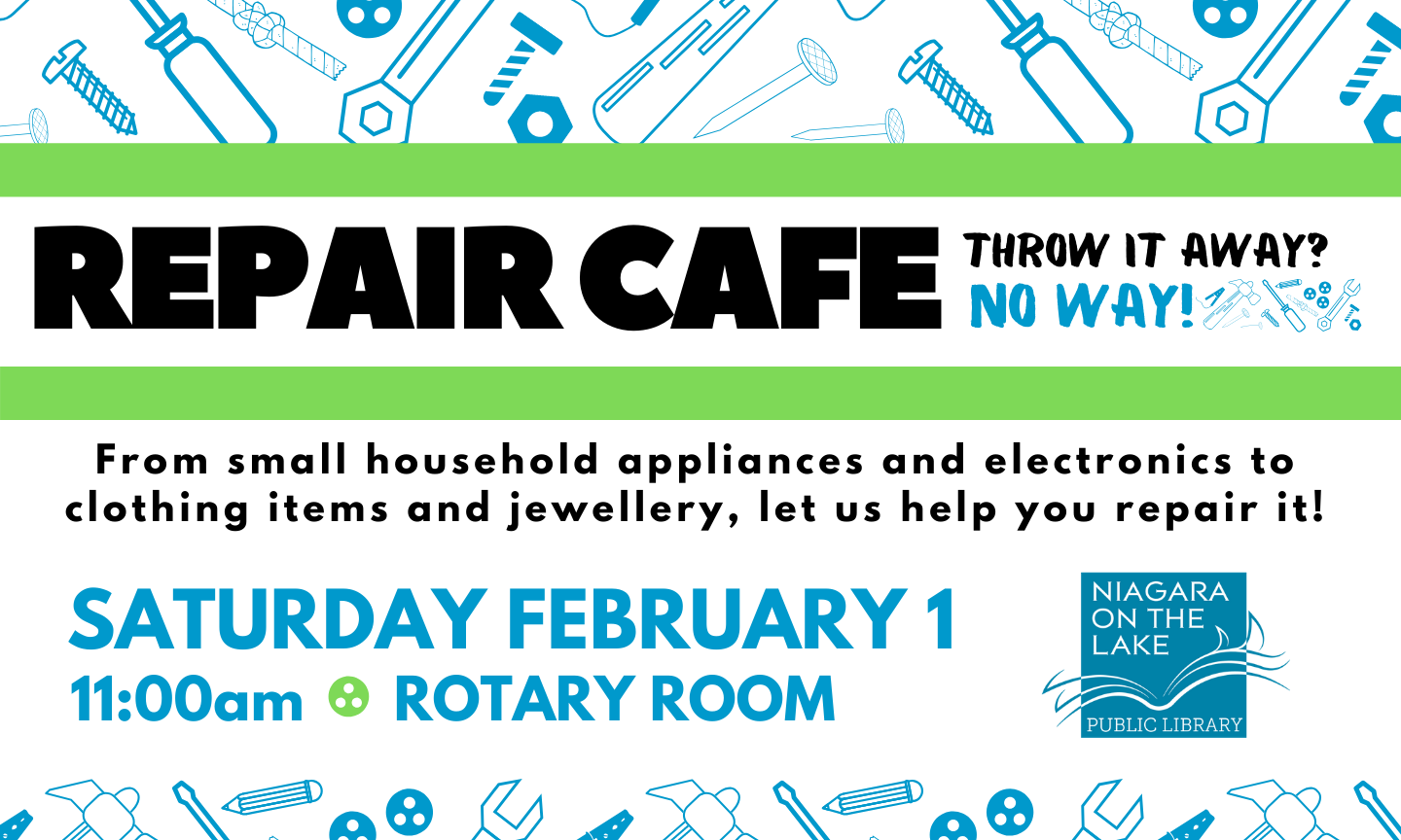 Repair Cafe February 1st at 11am